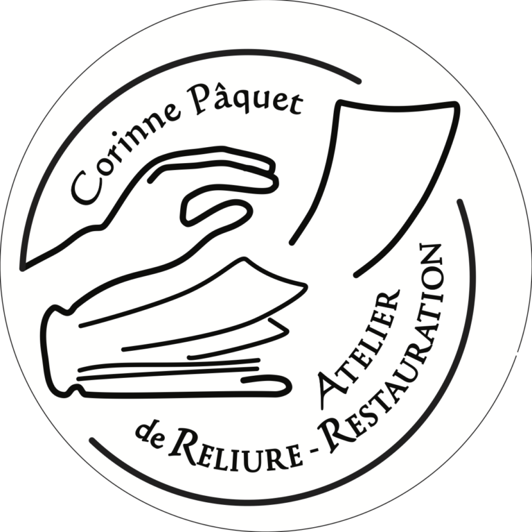 logo Atelier Corinne Pâquet Au Livre Dore