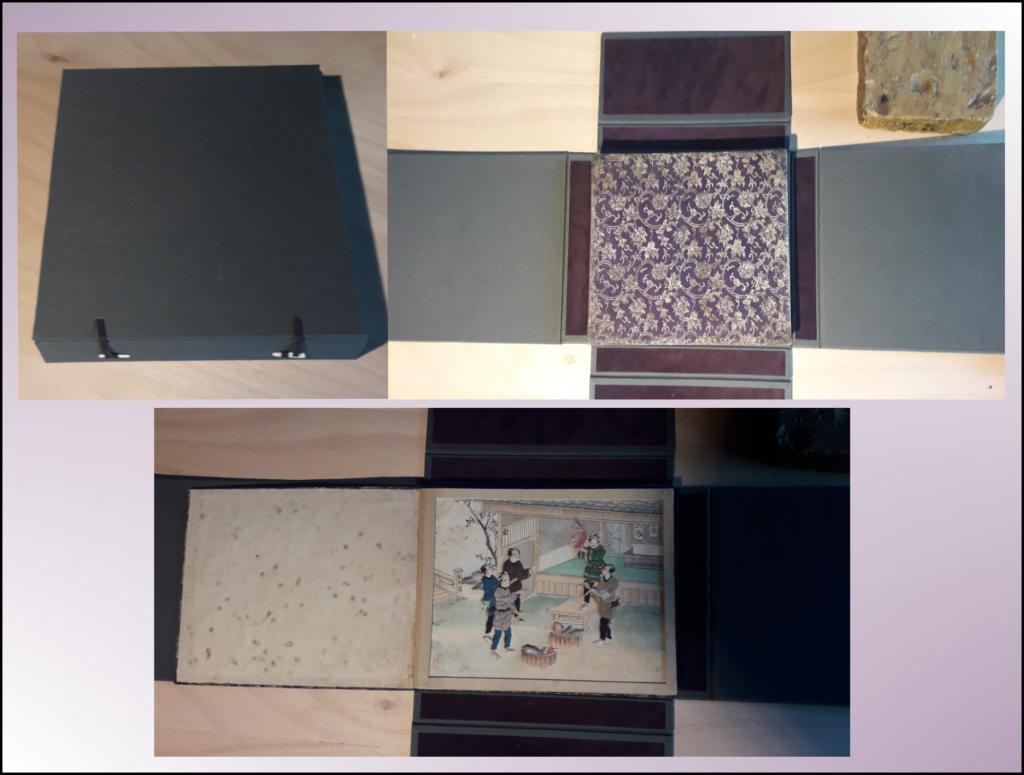boite origami livre en soie